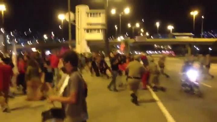 Protesto contra o impeachment de Dilma Roussef em Florianópolis