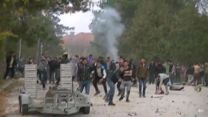 Confrontos em campo de refugiados na Bulgária