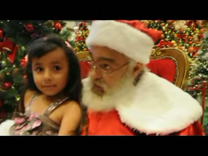 Papai Noel com as crianças em SC