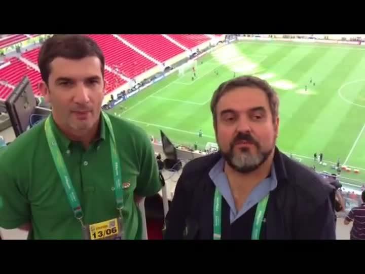 Sérgio Boaz e Zé Alberto mostram o treino da seleção brasileira - 14/06/2013