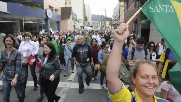 Dia nacional da luta em Blumenau