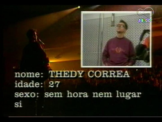 Programa do Roger - Reveja uma entrevista antiga com Thedy Corrêa da banda Nenhum de Nós - bloco 2 - 03/12/2013