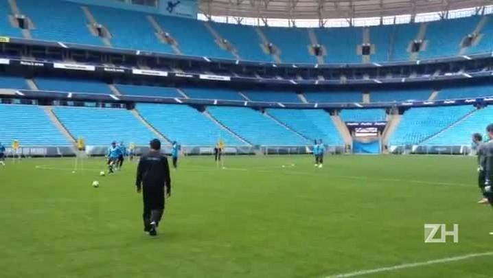 Grêmio treina finalizações antes de encarar o Vasco