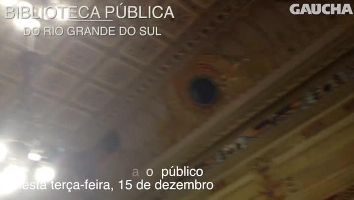Biblioteca pública do RS reabrirá neste 15 de dezembro