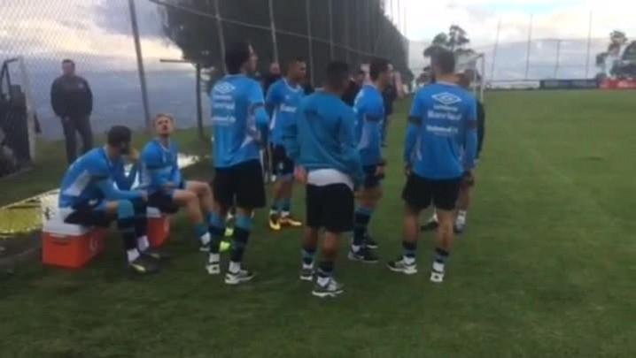 Grêmio tem resultado satisfatório no primeiro treino em Quito