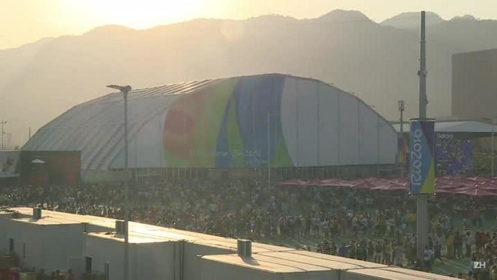 Filas gigantes nos locais de competição