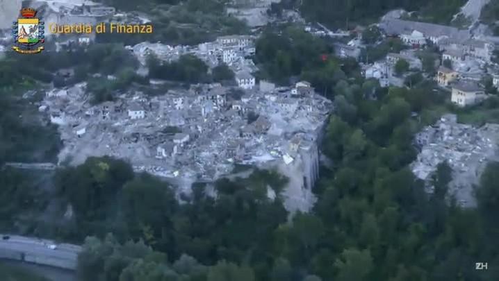 Imagens da destruição