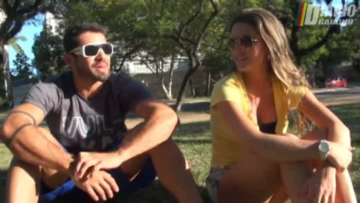 Ex-BBBs Yuri e Laisa em clima de romance na Capital