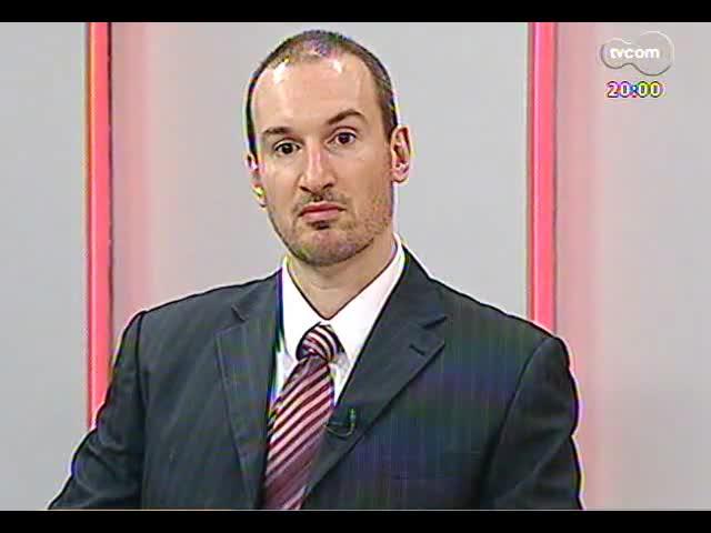 TVCOM 20 Horas - Entrevista com o delegado responsável pela investigação de atos de vandalismo durante protestos - Bloco 1 - 31/10/2013
