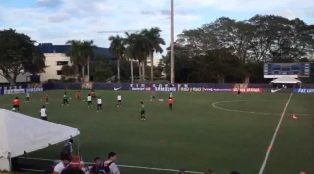 Seleção Brasileira já treina em Miami. 13/11/2013