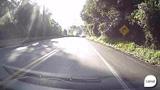 Veja o momento em que motorista b�bado dirige na contram�o e causa acidente na BR-116