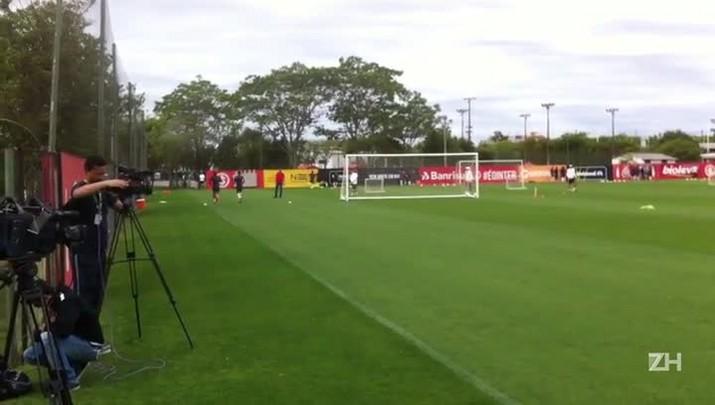 Anderson e Nico López fizeram treino físico nesta sexta-feira