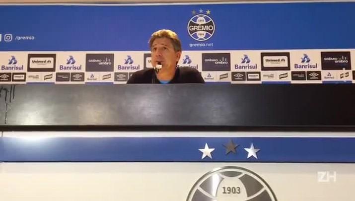 """Renato: \""""O Grêmio jogou com inteligência, com personalidade\"""""""