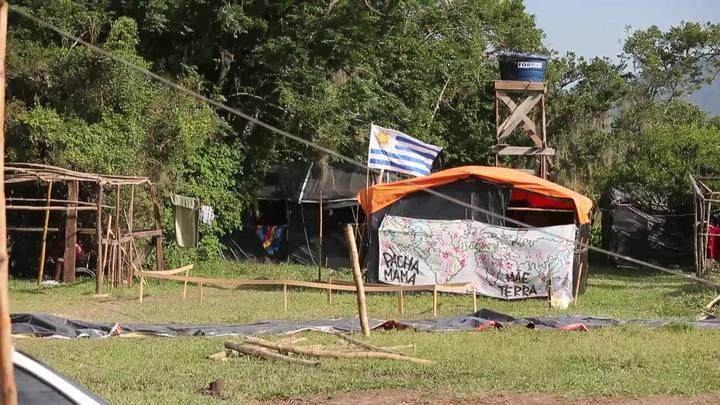 Representante do INCRA, Fernando Lúcio de Souza, fala sobre a situação da Ocupação Amarildo