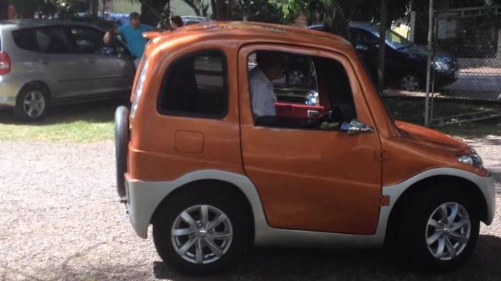 Conheça o carro elétrico inventado por um morador de Lajeado