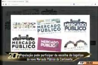 TVCOM 20 Horas - População pode participar da escolha do logotipo do novo Mercado Público do Continente - 22.04.15