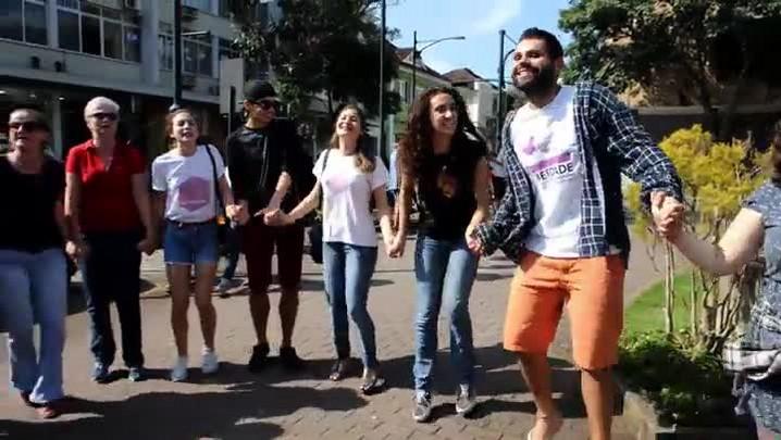 Ato público contra a homofobia em Blumenau