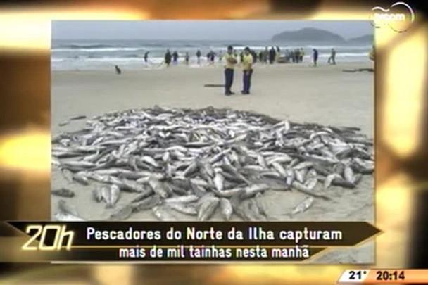 TVCOM 20 Horas - Prefeitura de Florianópolis vai propor termo ao Ministério Público para manter o fracionamento do pescado - 25.05.15