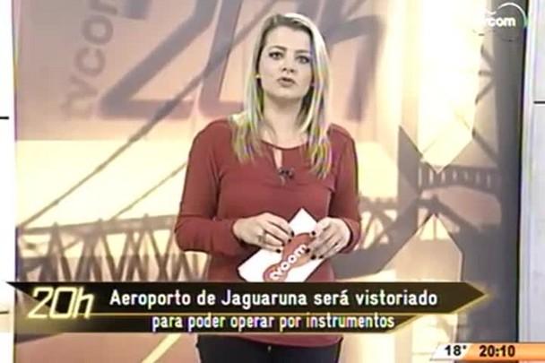 TVCOM 20 Horas - Aeroporto de Jaguaruna será vistoriado para poder operar por instrumentos - 01.06.15