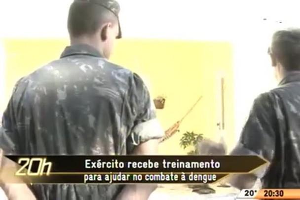 TVCOM 20 Horas - Exército recebe treinamento para ajudar no combate à dengue - 02.06.15
