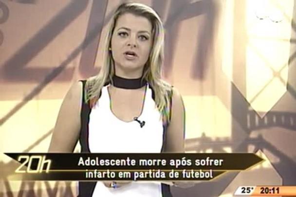 TVCOM 20 Horas - Adolescente morre após sofrer infarto em partida de futebol - 04.06.15