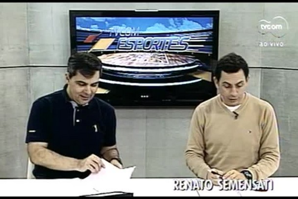 TVCOM Esportes. 1º Bloco. 09.08. 16