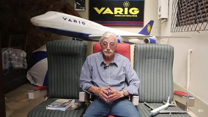 Ex-funcionário da Varig mostra museu que montou sobre a empresa