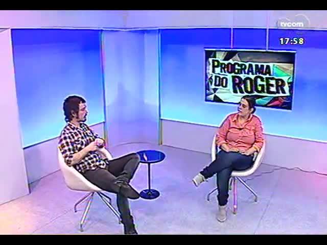 Programa do Roger - Artista Letícia Ramos fala de expoição \'A invenção da Roda\' - bloco 2 - 09/09/2013