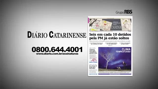 Chamadas Diário Catarinense edição 12 de novembro
