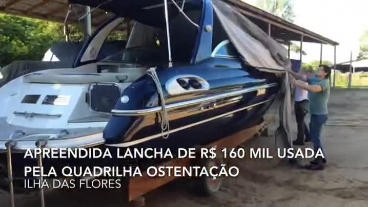 Polícia apreende lancha de R$ 160 mil usada por integrantes da quadrilha Ostentação