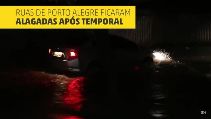 Chuva alaga ruas e derruba árvores na Capital
