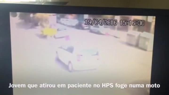 Vídeo mostra fuga de criminoso após tiroteio no HPS