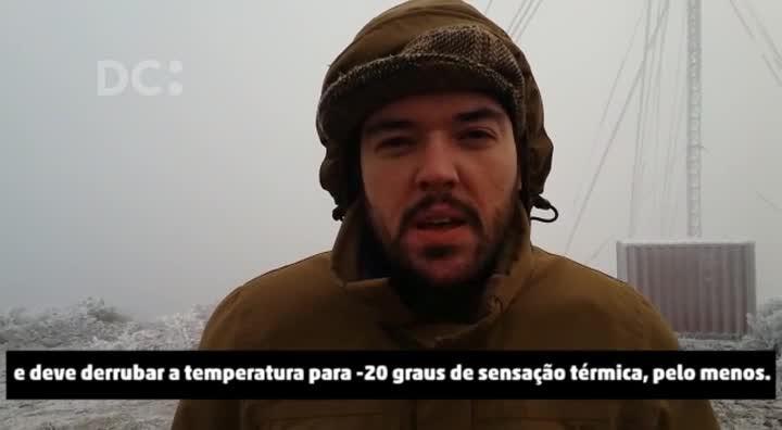 Urupema registra temperatura negativa na manhã desta terça-feira (18)