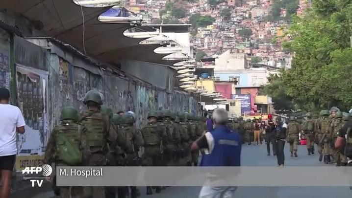 Forças Armadas reforçam segurança na Rocinha