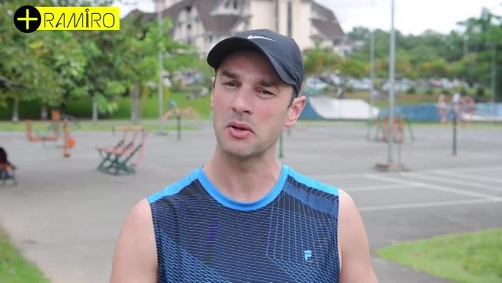 + Ramiro: Treino dá opções para fortalecimento muscular no parque