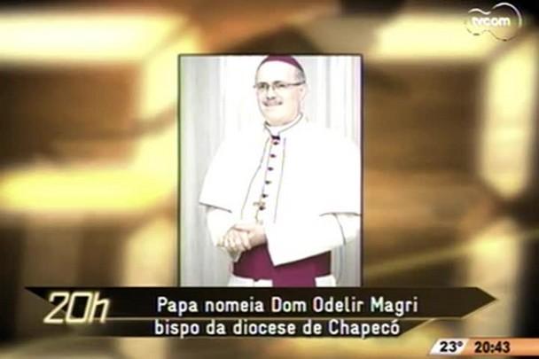 TVCOM 20h - Papa nomeia catarinense Dom Odelir José Magri bispo da Diocese de Chapecó - 3.12.14