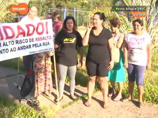 TVCOM 20 Horas - Moradores do bairro Jardim Ypu organizam manifestação contra violência - 09/04/2015