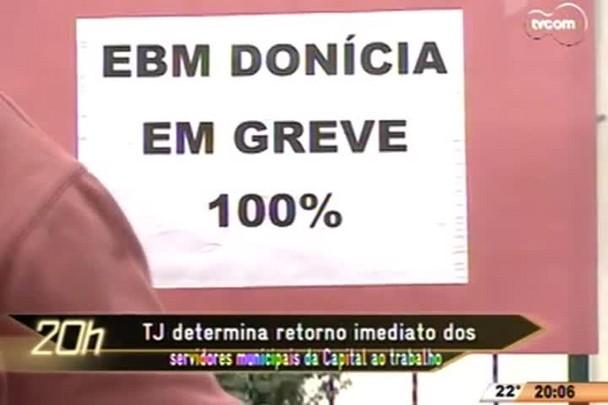 TVCOM 20 Horas - TJ determina retorno imediato dos servidores municipais da Capital ao trabalho - 19.05.15
