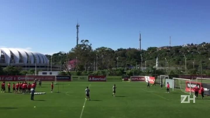 Inter treina finalizações, após vitória diante do Ituano