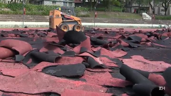 Sogipa começa a instalar nova pista de atletismo