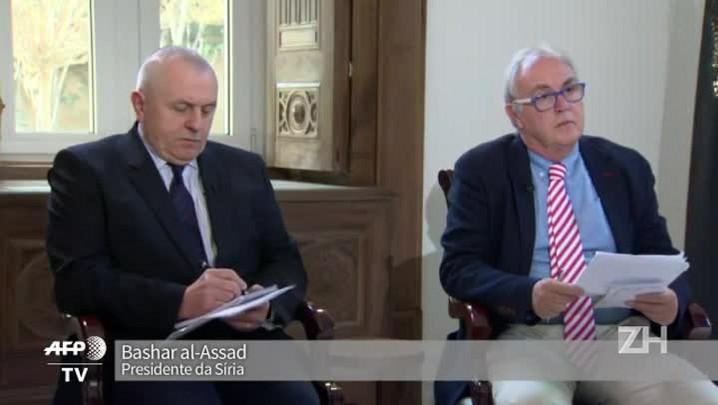 Assad apoia negociações de paz, mas deve continuar combates