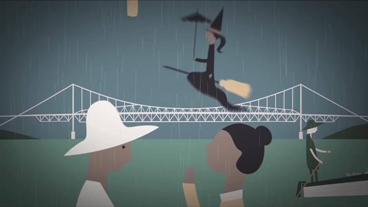 A inauguração da Ponte Hercílio Luz