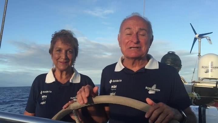 Vilfredo e Heloísa Schurmann convidam para a chegada da Expedição Oriente na Marina Itajaí