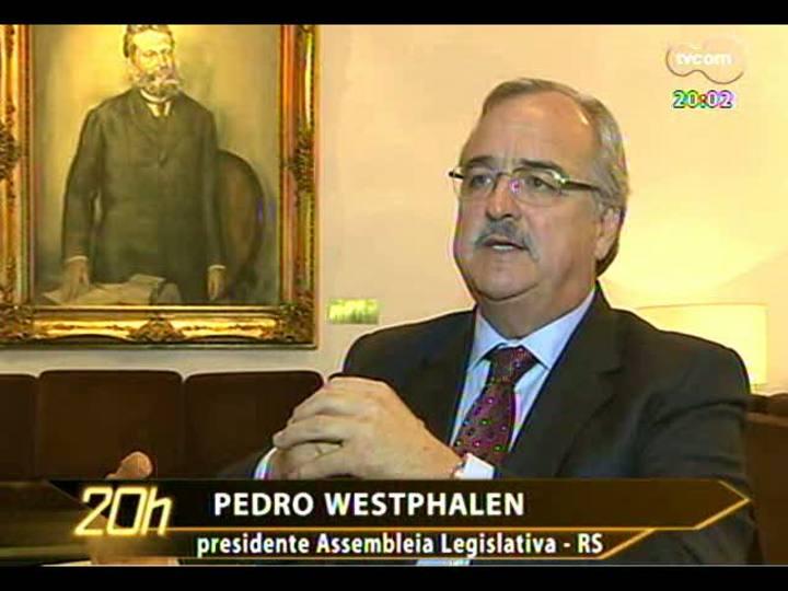 TVCOM 20 Horas - O fim do 14º e 15° salários no parlamento gaúcho - Bloco 1 - 28/02/2013