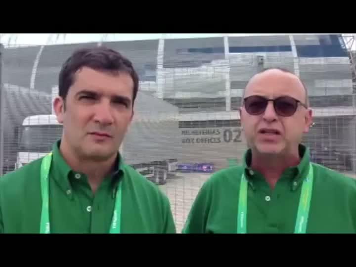 Sérgio Boaz e Nando Gross analisam o confronto entre Brasil x México. 19/06/2013