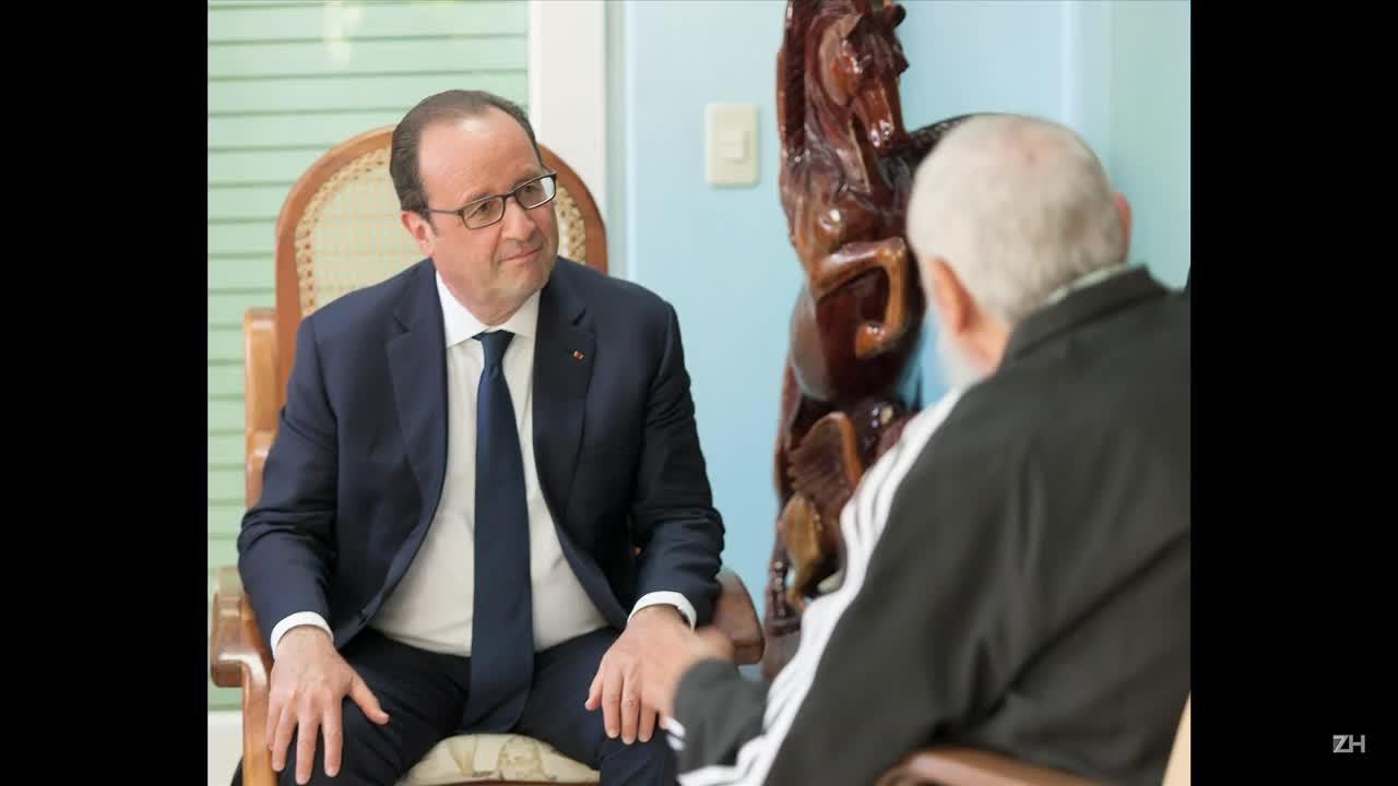 Hollande e Fidel têm reunião histórica em Cuba