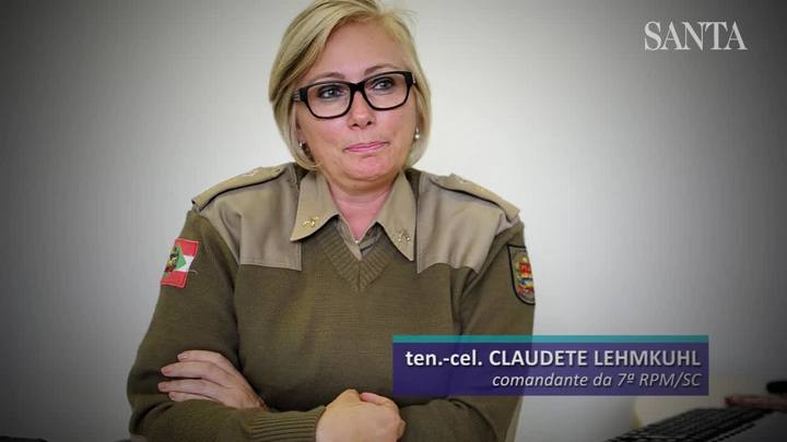 A primeira mulher a assumir uma regional da PM em SC