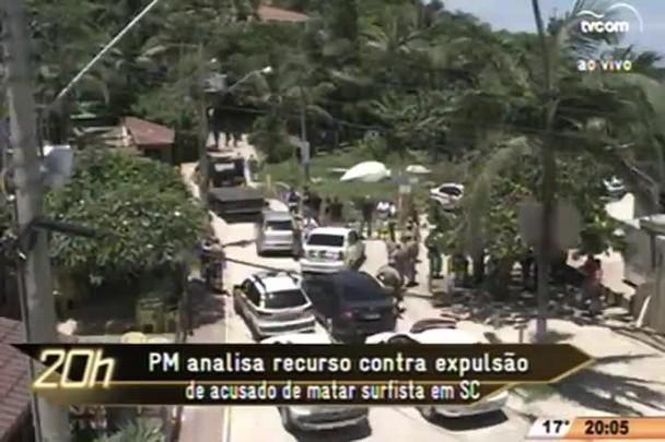 TVCOM 20 Horas - PM analisa recurso contra expulsão de acusado de matar surfista em SC - 21.07.15