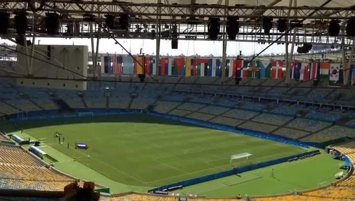 Organização testa hinos antes de Brasil x Honduras