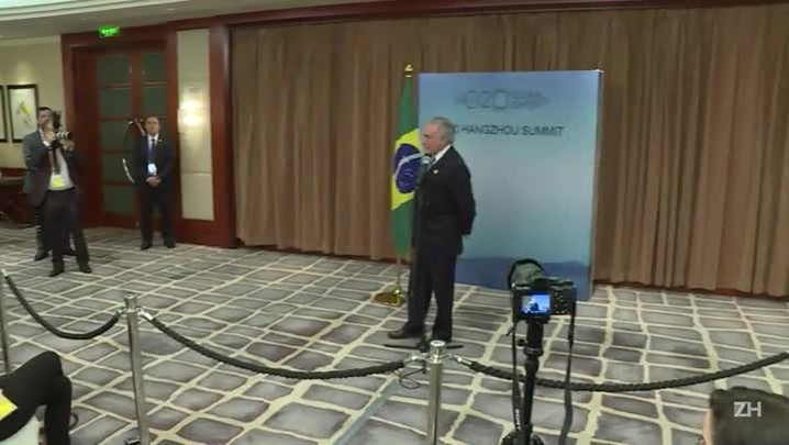 Temer diz que quer 'pacificar o Brasil'